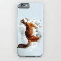 iPhone & iPod Case featuring Calico Cat on Canvas by David Finley
