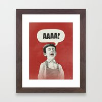 AAAA! Framed Art Print