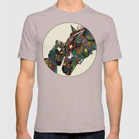 Horse Love Stone Mens Fitted Tee Cinder SMALL