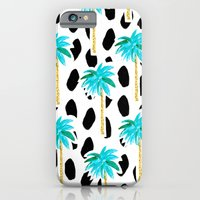 iPhone & iPod Case featuring Palm Trees and Dots by Bouffants and Broken Hearts