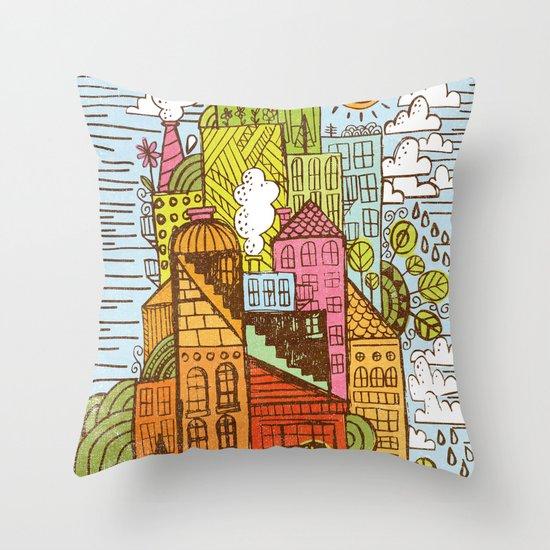 BUILD UP  Throw Pillow