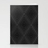 Diamonds (Black) Stationery Cards