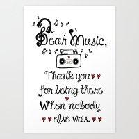 Dear music Art Print