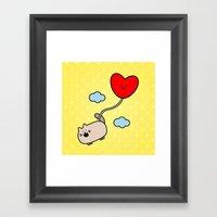 Kimmi's Love Is 0n Cloud… Framed Art Print