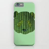 iPhone & iPod Case featuring Panda & bamboo by Dario Olibet