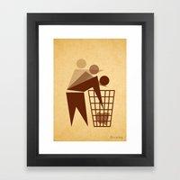 Recycling Framed Art Print