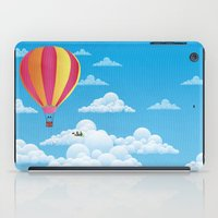 Picnic in a Balloon on a Cloud iPad Case