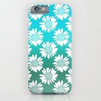 Blue Gradient Flowers iPhone 6 Slim Case
