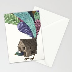 birdhouse revisited Stationery Cards