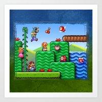 Super Mario 2 Art Print
