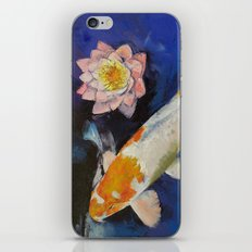 Gin Rin Koi and Water Lily iPhone & iPod Skin