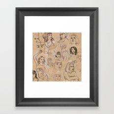 Burlesque Sketchbook Framed Art Print