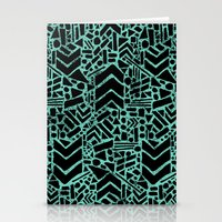 Up/Down (mint) Stationery Cards