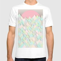 Forest Pastel Mens Fitted Tee White SMALL