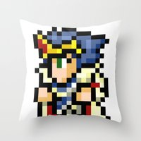 Final Fantasy II - Paladin Cecil Throw Pillow