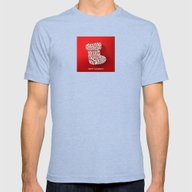 Happy Holidays - Boot Mens Fitted Tee Tri-Blue LARGE