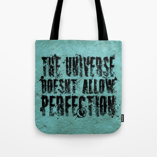 Stephen Hawking on Perfection Tote Bag