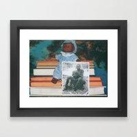 We are all born innocent. Framed Art Print