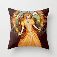 Daisy Nouveau Throw Pillow