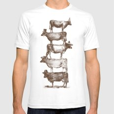 Cow Cow Nuts SMALL White Mens Fitted Tee