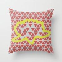 Geometric Vs. Organic  Throw Pillow