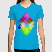 Topaz Womens Fitted Tee Teal SMALL
