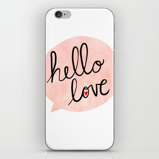 Hello Love iPhone & iPod Skin