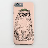 iPhone Cases featuring Hipster Persian Cat by Huebucket