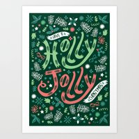 Have A Holly Jolly Chris… Art Print