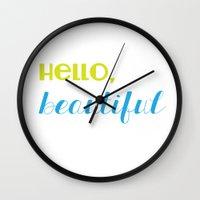 hello, beautiful 2 Wall Clock