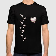 My heart Mens Fitted Tee Black SMALL