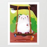 The Eyez - Fat Rabbit Art Print