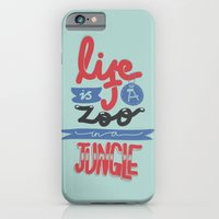 iPhone & iPod Case featuring Life Is A Zoo In A Jungle by eugeniaclara