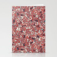 A1B2C3 coral red Stationery Cards