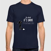 I'm Stuck. It's Dark. I'… Mens Fitted Tee Navy SMALL