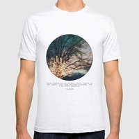 White Lights Mens Fitted Tee Ash Grey SMALL