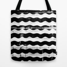Black Waves Tote Bag