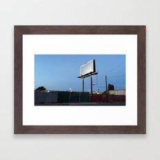 wordless sign Framed Art Print