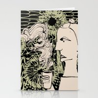 Cafe Drawing Stationery Cards