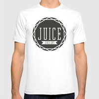 Juice Emblem Mens Fitted Tee White SMALL