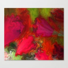 Flower Mirage in Red Canvas Print