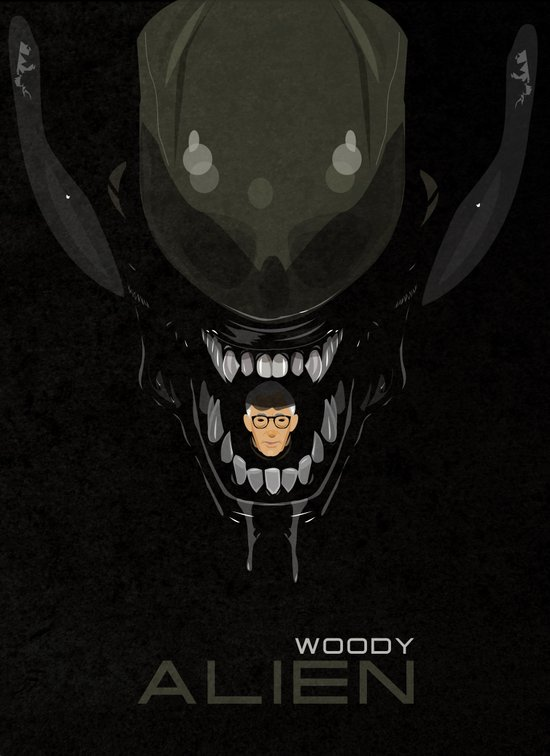 coupling up (accouplés) Woody Alien Art Print