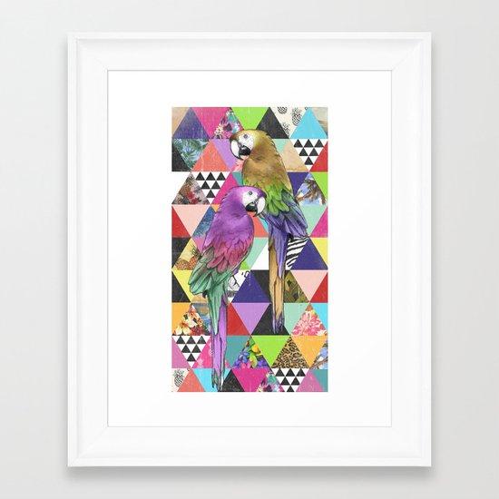 A bit of tropical geometry Framed Art Print