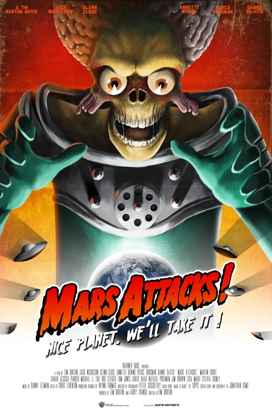 Mars Attacks ! Art Print