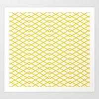 Yellow Diamonds In The S… Art Print