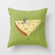 Slice fishing Throw Pillow