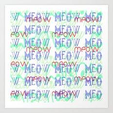 Meow ~ Invert Art Print