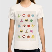 Creatures Womens Fitted Tee Natural SMALL