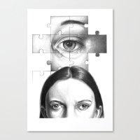 Ti Guardo E Mi Vedo In T… Canvas Print