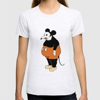 Mickey Da Rat Womens Fitted Tee Ash Grey SMALL